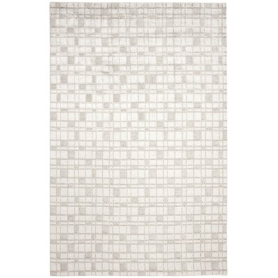 Oliveri Hand-Woven Silver Area Rug Rug Size: Rectangle 9 x 12
