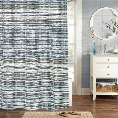 Fleeman Woven Jacquard 100% Cotton Shower Curtain