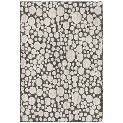 Oliverio Hand-Woven Charcoal/Cream Area Rug Rug Size: Rectangle 6 x 9