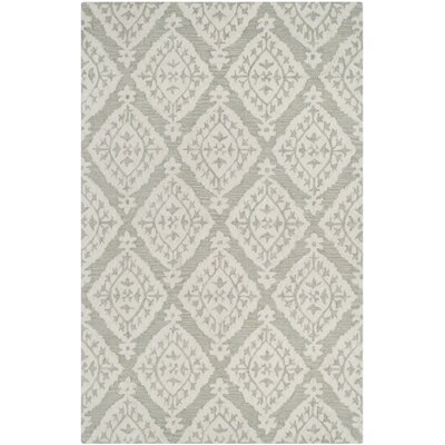 Salerna Hand-Tufted Wool Sage Area Rug Rug Size: Rectangle 8 x 10