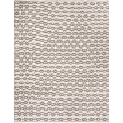 Church Street Hand-Woven Cotton Taupe/Ivory Area Rug Rug Size: Rectangle 5 x 8