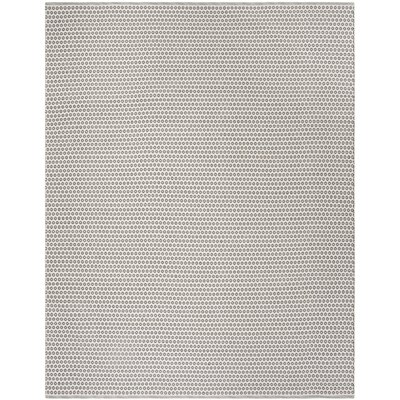 Church Street Hand-Woven Cotton Gray/Ivory Area Rug Rug Size: Rectangle 8 x 10