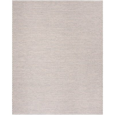 Church Street Hand-Woven Cotton Ivory/Brown Area Rug Rug Size: Rectangle 3 x 5