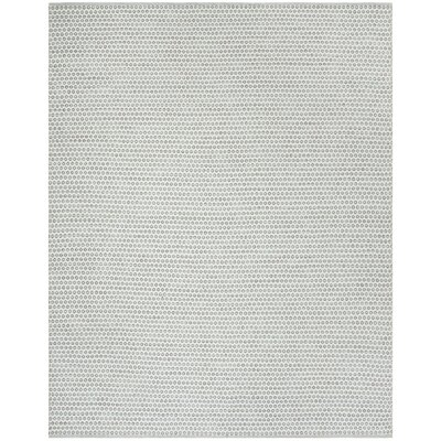 Church Street Hand-Woven Cotton Slate/Ivory Area Rug Rug Size: Rectangle 8 x 10