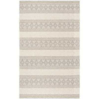 Diara Natural Hand-Woven Wool/Cotton Gray/Ivory Area Rug Rug Size: Rectangle 4 x 6