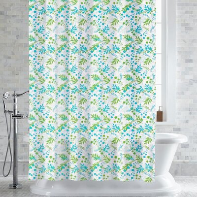 Wolters Bruno Foliage Print Shower Curtain