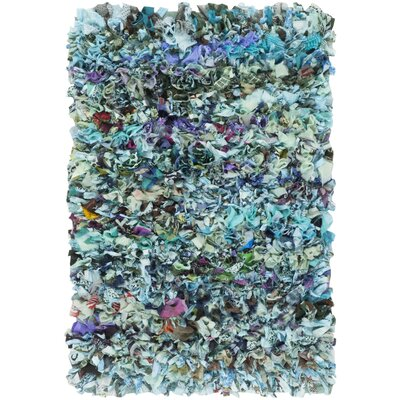 Cudney Shag Hand-Woven Blue Area Rug Rug Size: Rectangle 26 x 4