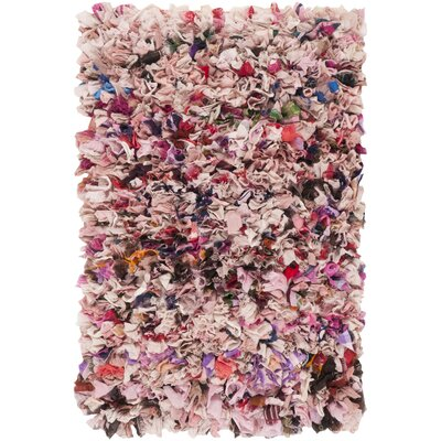 Cudney Shag Hand-Woven Blush Area Rug Rug Size: Rectangle 26 x 4