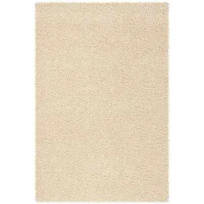 Fornax Shag Ivory Area Rug Rug Size: Rectangle 51 x 76