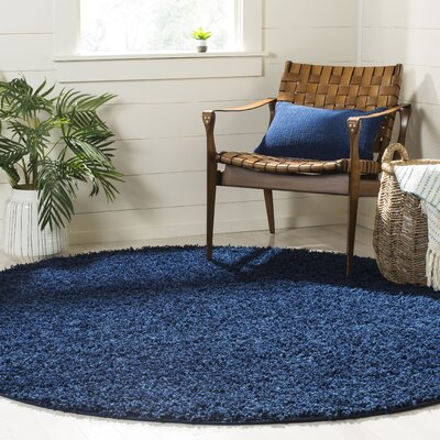 Fornax Shag Navy Area Rug Rug Size: Rectangle 8 x 10