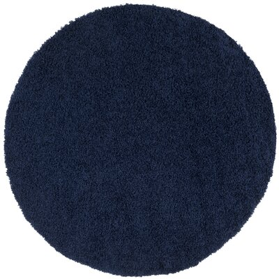 Fornax Shag Navy Area Rug Rug Size: Round 67