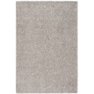 Fornax Shag Gray Area Rug Rug Size: Rectangle 4 x 6