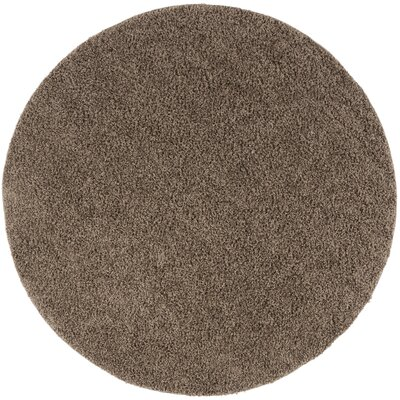 Fornax Shag Brown Area Rug Rug Size: Round 67