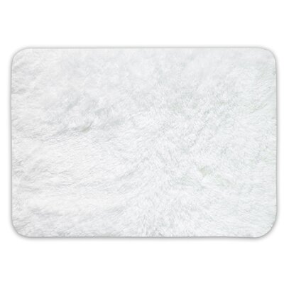Achille St. Lucia Prima Bath Rug Color: White, Size: 17 W x 24 L