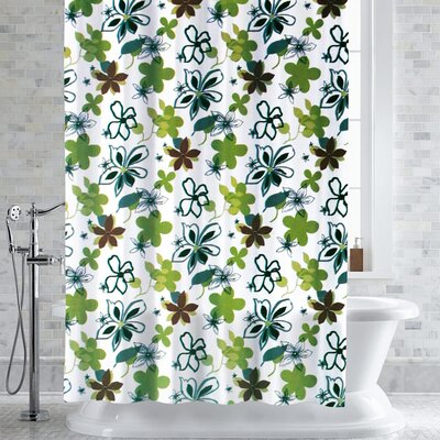 Mortenson Garner Floral Print Shower Curtain