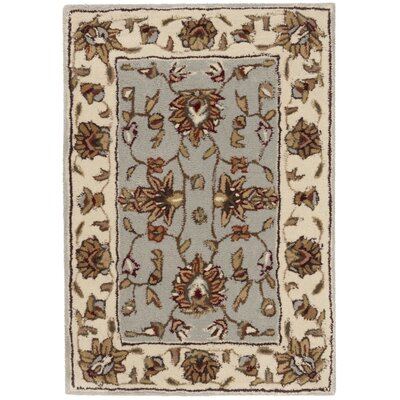 Cloverdale Hand-Hooked Ivory/Gray Area Rug Rug Size: Rectangle 3 x 5