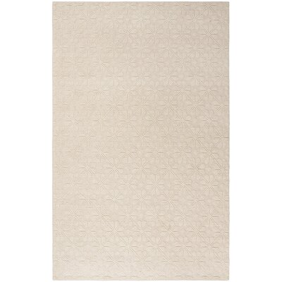 Kelton Hand-Woven Wool Ivory Area Rug Rug Size: Rectangle 5 x 8