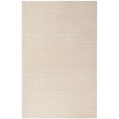 Matamoros Hand-Woven Wool Ivory Area Rug Rug Size: Rectangle 5 x 8