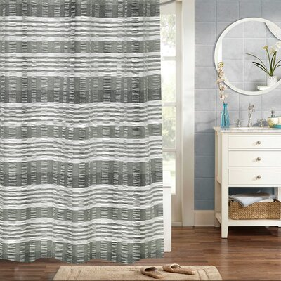 Flavin Woven Jacquard 100% Cotton Shower Curtain