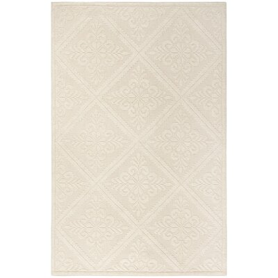 Kelty Hand-Woven Wool Ivory Area Rug Rug Size: Rectangle 5 x 8
