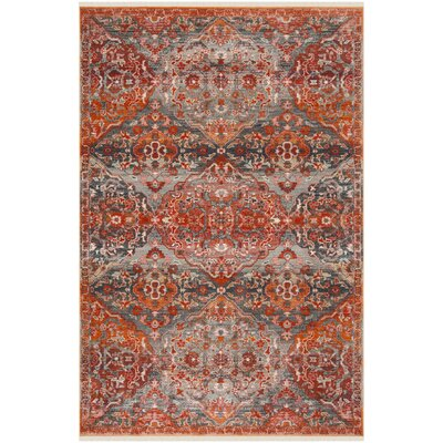 Feldmann Vintage Persian Orange Area Rug Rug Size: Rectangle 4 x 6