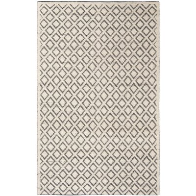Matamoros Hand-Woven Wool Ivory/Black Area Rug Rug Size: Rectangle 5 x 8