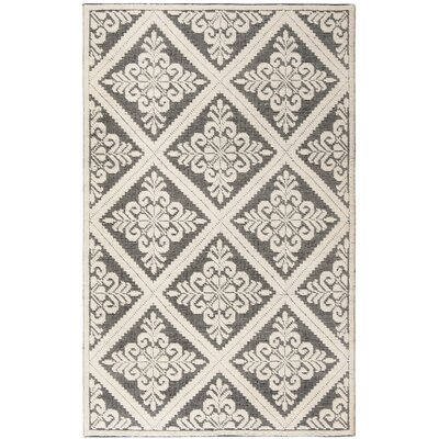 Kelty Hand-Woven Wool Ivory/Black Area Rug Rug Size: Rectangle 4 x 6