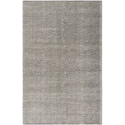 Matchett Hand-Woven Wool Ivory/Black Area Rug Rug Size: Rectangle 5 x 8