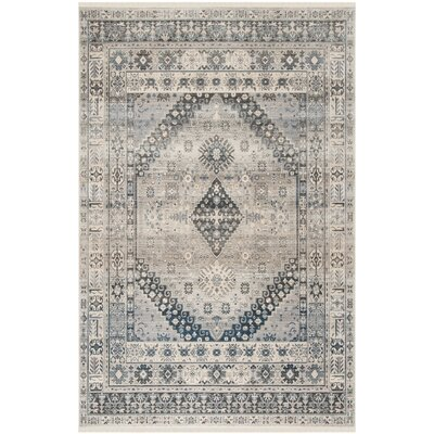 Egremont Vintage Persian Gray Area Rug Rug Size: Rectangle 8 x 10