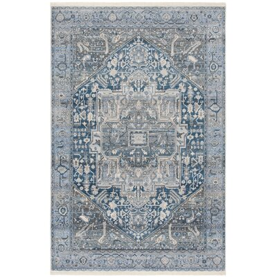 Egremont Vintage Persian Blue Area Rug Rug Size: Rectangle 22 x 12
