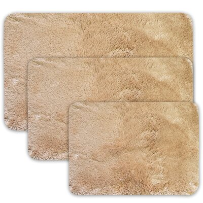 Achilles 3 Piece St. Lucia Prima Bath Rug Set Color: Gold