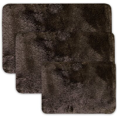 Achilles 3 Piece St. Lucia Prima Bath Rug Set Color: Mocha
