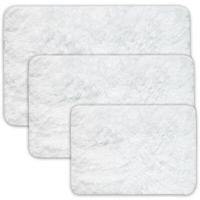 Achilles 3 Piece St. Lucia Prima Bath Rug Set Color: White