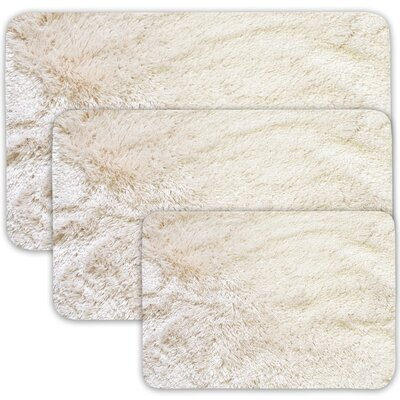 Achilles 3 Piece St. Lucia Prima Bath Rug Set Color: Beige