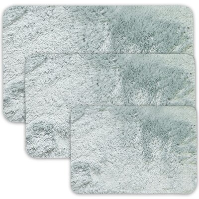 Achilles 3 Piece St. Lucia Prima Bath Rug Set Color: Blue