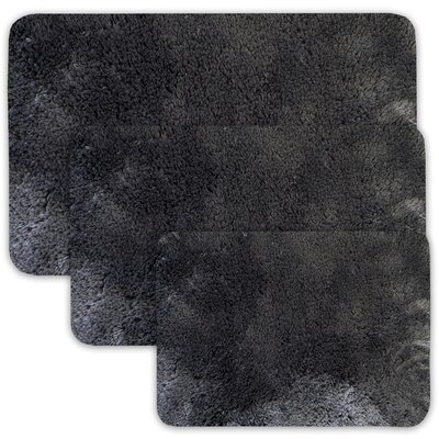 Achilles 3 Piece St. Lucia Prima Bath Rug Set Color: Charcoal