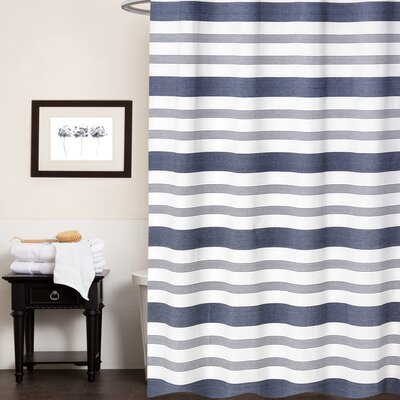 Cudney Nowell 100% Cotton Shower Curtain Color: Blue