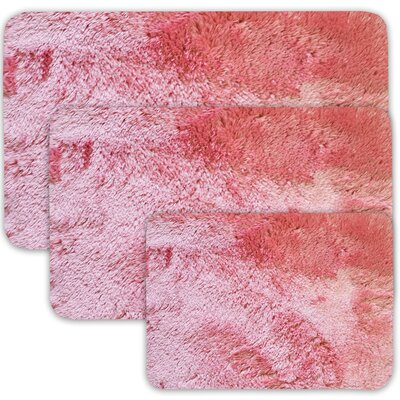 Achilles 3 Piece St. Lucia Prima Bath Rug Set Color: Coral