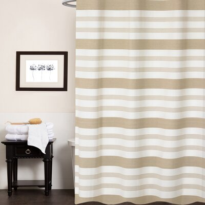 Cudney Nowell 100% Cotton Shower Curtain Color: Tan