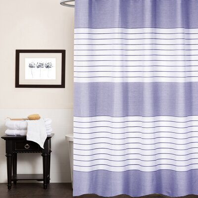Cuellar Pacey 100% Cotton Shower Curtain Color: Blue