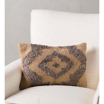 Matheny Puri Handwoven Lumbar Silk/Wool Pillow Cover
