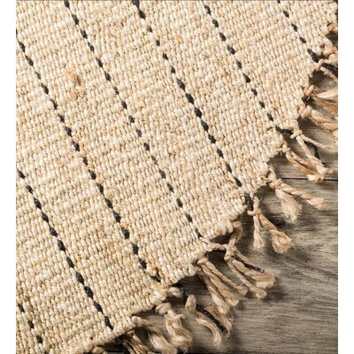 Mather Round Natural Hemp Beige Area Rug