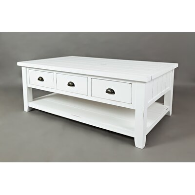 Redd Coffee Table Color: Weathered White
