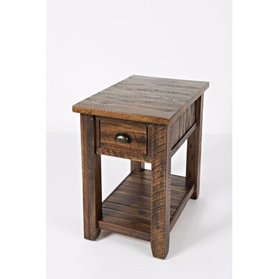 Redd End Table with Storage Color: Dakota Oak