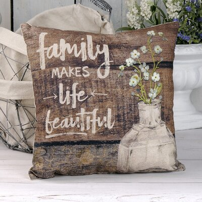 Elam Family Vintage Bottle Throw Pillow