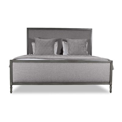Faisan Plain Upholstered Panel Bed Color: Gray, Size: California King