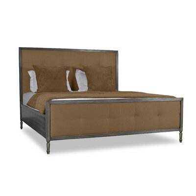 Faisan Button Tufted Upholstered Panel Bed Color: Brown, Size: California King