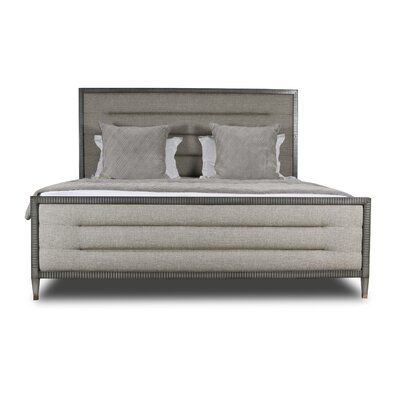 Korhonen Horizontal Channel Tufting Upholstered Panel Bed Color: Gray, Size: King