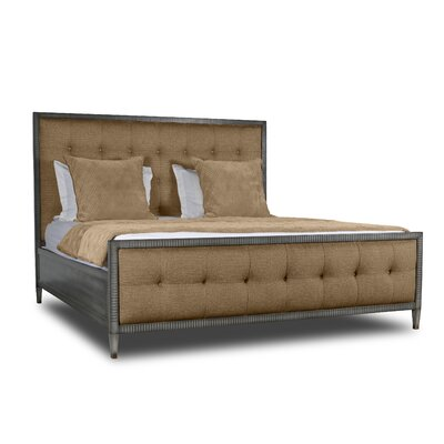 Korhonen Box Tufting Upholstered Panel Bed Color: Brown, Size: California King