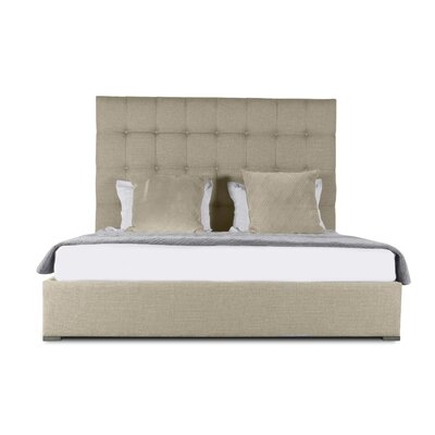 Handley Box Tufting Upholstered Panel Bed Color: Sand, Size: Mid Height Queen